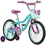 Schwinn Elm Girls Bike for Toddlers and Kids, 18-Inch Wheels, Teal