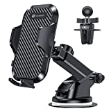 VICSEED Universal Car Phone Mount Car Phone Holder for Car Dashboard Windshield Air Vent Long Arm Strong Suction Cell Phone Car Mount Fit with iPhone 11 Pro X XS Max XR Galaxy S20 Note10 & All Phones