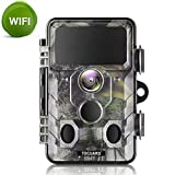 TOGUARD WiFi Trail Camera 20MP 1296P Hunting Game Camera with Night Vision Motion Activated IP66 Waterproof for Outdoor Wildlife Game Camera