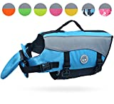 Vivaglory Dog Life Jackets with Extra Padding for Dogs, Small - Blue