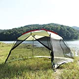 YDYL Screen House 13'x9' Canopy Shelter, Easy Installation for Outdoor Kitchen Green Color Suitable for a Family with 5-8 People