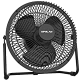 New OPOLAR Battery Operated Desk Fan with Timer, Super Strong Airflow, 4 Speeds, Rechargeble Metal Fan for for Home Camping Hurricane, Quiet, Fast Charging, Long 4-15 Working Hours