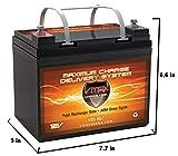 VMAXTANKS VMAX V35-857 12 Volt 35AH AGM Battery Marine Deep Cycle HI Performance Battery ideal for boats and 18-35lb minn kota, minnkota, cobra, sevylor and other trolling motor (12V 35AH, GROUP U1)