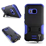 One M9 Case, CoverON for HTC One M9 Hybrid Case [DuraShield Series] Heavy Duty Shockproof Protective Phone Cover with Kickstand - Blue & Black