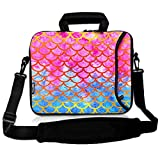 RICHEN 9.7 10 10.1 10.2 inches Messenger Bag Carrying Case Sleeve with Handle Accessory Pocket Fits 7 to 10-Inch Laptops/Notebook/ebooks/Kids Tablet/Pad (7-10.2 inch, Mermaid Scale)
