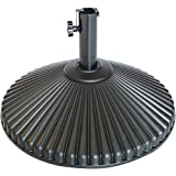 Abba Patio 50lb Patio Umbrella Base Water Filled 23' Round Recyclable Plastic Outdoor Market Umbrella Stand Base for Deck, Lawn, Garden, Black