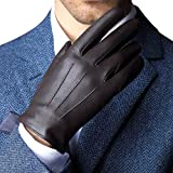 Touchscreen Genuine Leather Cold Weather Gloves for men's Texting Driving Glove (L-8.9'(US Standard Size), BROWN)