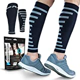 PowerLix Calf Compression Sleeve (Pair) – Supreme Calf Cramp & Shin Splint Sleeves for Men & Women – Leg Compression Socks 20-30 mmHg – Great for Pain Relief, Running, Work, Travel, Sports & More