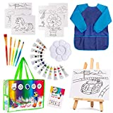 Paint Set For Kids - 27 piece Kids paint sets, Painting Supplies for Drawing, Kids Art Canvas Painting