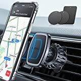 LISEN Phone Holder Car, [Upgraded Clip] Magnetic Phone Mount [6 Strong Magnets] Car Phone Mount [Case Friendly] Phone Car Holder Mount Compatible with 4-6.7 inch Smartphones and Tablets