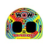 WOW World of Watersports Macho Multiple Riding Positions Tube 1 or 2 Person Inflatable Deck and Cockpit Towable Tube for Boating, 16-1010