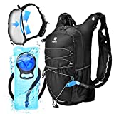 ZOFOW Hydration Backpack Pack 70oz 2 Liter TPU BPA Free Hydration Water Bladder Tactical Water Vest Lightweight Bike Bag Outdoor Gear Kit for Hiking Cycling Running Camping Hunting for Women Men Kids