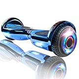 XPRIT Hoverboard w/Bluetooth Speaker, UL2272 Certified (Chrome Blue)