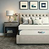 Classic Brands Cool 1.0 Ultimate Gel Memory Foam 14-Inch Bonus 2 Pillows Mattress, Queen, White