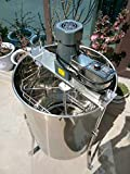 INTBUYING Electric Honey Extractor 304 Stainless Steel Honeycomb Drum Spinner Beekeeping Equipment 4 Frame Speed Adjustable Honeycomb Spinner Drum