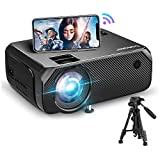 Bomaker WiFi Projector, Portable WiFi Mini Projector for Outdoor Movies, Full HD Outdoor Projector, Wireless Mirroring, for Laptops / Smartphone / PCs/ Windows/ TV Stick / DVD Player