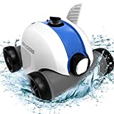 PAXCESS Cordless Automatic Pool Cleaner, Robotic Pool Cleaner with 5000mAh Rechargeable Battery, 60-90 Mins Working Time, IPX8 Waterproof, Lightweight, Good for Cleaning In-Ground/Above Ground Pool