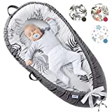 Pillani Baby Lounger - Baby Nest for 0-12 Months, Breathable Co Sleeper for Baby, Newborn Lounger for Cosleeping in Bed - Toddler Sleep Portable Bassinet, Infant Pillow Cosleeper