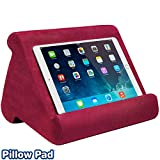 Ontel Pillow Pad Multi-Angle Soft Tablet Stand, Burgundy