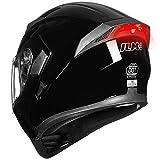 ILM Motorcycle Dual Visor Flip up Modular Full Face Helmet DOT LED Light (S, GLOSS BLACK - LED)