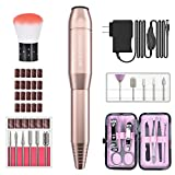 Electric Nail Drill Set, MelodySusie 11 in 1 Portable Professional Manicure Pedicure Acrylic Nail Kit with 20 PCS Nail Sand Bands for Acrylics Gel Nails
