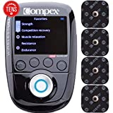 Compex Wireless USA 2.0 Muscle Stimulator w/TENS Bundle Kit: Electric Muscle Stimulation Machine (EMS), 16 Snap Electrodes, 10 Programs, Wireless PODs / 4 Strength / 2 Warm-up / 3 Recovery / 1 TENS