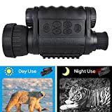 Night Vision Monocular, HD Digital Infrared Camera Scope 6x50mm with 1.5 inch TFT LCD High Power Hunting Gear Takes 5mp Photo 720 Video up to 350m/1150ft Detection Distance
