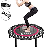 DARCHEN 450 lbs Mini Trampoline for Adults, Indoor Small Rebounder Exercise Trampoline for Workout Fitness, 450 lbs Max-Load Bungees for Quiet and Safely Cushioned Bounce, 40 Inch Gym Trampoline