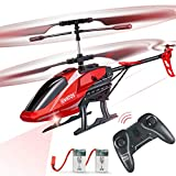 RC Helicopter, VATOS Remote Control Helicopter for Kids Altitude Hold Hobby RC Airplane with 2 Batteries Gyro & LED Light 3.5 Channel Micro Alloy Mini Military Series Indoor Toy Gift for Boys Adults