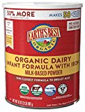 Earth's Best Organic Dairy Infant Powder Formula with Iron, Omega-3 DHA and Omega-6 ARA, 32 Ounce