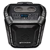 ECOXGEAR EcoBoulder+ GDI-EXBLD810 Rugged Waterproof Floating Portable Bluetooth Wireless 100 Watt Speaker and PA System (Gray)
