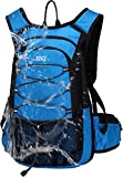 Mubasel Gear Insulated Hydration Backpack Pack with 2L BPA Free Bladder - Keeps Liquid Cool up to 4 Hours – for Running, Hiking, Cycling, Camping (Blue)