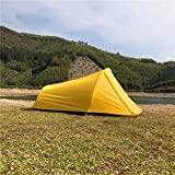 MountainCattle 2 Person Backpack Camping Tent, Ultralight Backpacking Dome Tent, Yellow