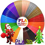3D Pen/3D Printer Filament(16 Colors, 320 Feet) Bonus 250 Stencils eBooks - Dikale 3D Pen Filament 1.75mm PLA for Tecboss Nulaxy etc(Does Not Fit 3Doodler)…