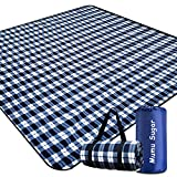 Mumu Sugar Outdoor Picnic Blanket,Extra Large Picnic Blanket 80'x80' with 3 Layers Material,Waterproof Foldable Picnic Outdoor Blanket Picnic Mat for Camping Beach Park Family Concerts Fireworks
