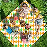 Homemaxs Picnic Blankets Extra Large 80' X80', 【2020 Newest】 Waterproof Foldable Picnic Mat with 3 Tier Waterproof Sandproof Material, Portable Outdoor Picnic Blankets for Beach, Camping and Hiking