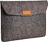 Amazon Basics 13 Inch Felt Macbook Laptop Sleeve Case - Charcoal