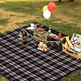 hogardeck Picnic Blankets Beach Mat, 60 x 70 Extra Large Foldable Outdoor Blanket Waterproof Sand Proof Triple Layers Picnic Mat Beach, Park, Outdoor Concerts, Camping, Hiking, Travel
