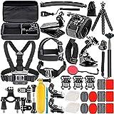 Neewer 50-In-1 Action Camera Accessory Kit for GoPro 8 GoPro Hero 7 6 5 4 Hero Session 5 Apeman DJI OSMO Action SJ6000 DBPOWER AKASO VicTsing Rollei Lightdow Camper