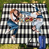 Picnic Blanket,Picnic Blanket Waterproof Foldable with 3 Layers Material,Extra Large Picnic Blanket Picnic Mat Beach Blanket 80'x80' for Camping Beach Park Hiking Fireworks,Larger & Thicker