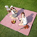 Three Donkeys Extra Large Picnic Blanket 79''x79'',Oversized 3 Layers Outdoor Blanket, Checkered Picnic Mat Great for The Beach, Camping on Grass Waterproof & SandProof.