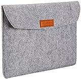 AmazonBasics 13 Inch Felt Macbook Laptop Sleeve Case - Light Grey