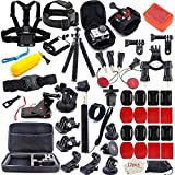 MOUNTDOG Action Camera Accessories Kit for GoPro Hero 7 6 5 4 3+ 3 Hero Session 5 Black Accessory Bundle Set for Yi AKASO Apeman SJ4000 DBPOWER WiMiUS Rollei QUMOX Campark Action Camera Accessory