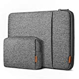 Inateck 12.3-13 Inch Case Sleeve 360° Protection Compatible with MacBook Air 13 2020/2019/2018, MacBook Pro 13 2016-2020, MacBook M1, 12.9 iPad Pro, Surface Pro 7/6/X/5/4/3 with Accesory Bag - Gray