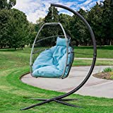 Barton Deluxe Hanging Chair Swing Egg Chair X-Large Seat UV Resistant Soft Deep Cushion Relaxing Basket Chair