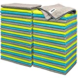FIXSMITH Microfiber Cleaning Cloth - Pack of 50, Multi-Functional Cleaning Towels, Size: 12 x 16 in, Highly Absorbent Cleaning Rags, Lint-Free, Streak-Free Cleaning Cloths for Car Kitchen Home Office