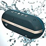 INSMY Portable Bluetooth Speakers, 20W Wireless Speaker Loud Stereo Sound Rich Bass, IPX7 Waterproof Floating, TWS Mode, 24 Hours Playtime, Bluetooth 5.0, Built-in Mic for Outdoors Camping (Blue)