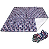 KingCamp Extra Large Outdoor Picnic Blanket, Waterproof, Sand-Proof, Heat Insulation, Aluminum Films Bottom, Machine Washable Camping Mat for Beach, Park(Rosered, 300x300 cm)