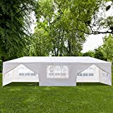Zippem Outdoor Canopy Party Wedding Tent,Sunshade Shelter,Outdoor Gazebo Pavilion with Removable Sidewalls Upgraded Thicken Steel Tube (10' x 20' / 6 Removable Sidewalls White) (US Stock)