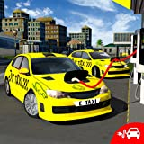 Electric Car Taxi Driving Simulator 3D: NY City Gas Station Parking Games 2018